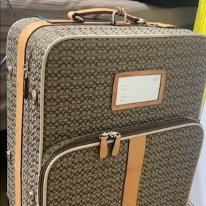 "Coach Jacquard 22"" Carry On Suitcase Luggage"